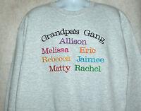 Grandpa Sweatshirt, Personalize Seven Kids Names & Any Grandpa Name, Agift 769