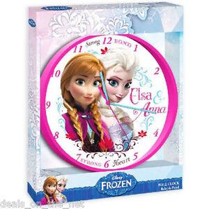 24CM-disney-frozen-anna-elsa-horloge-mur-chambre-enfants-filles-cadeau-pendaison