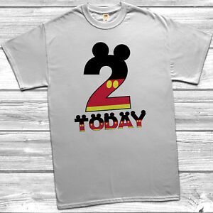 Image Is Loading 2 Today T Shirt Mickey Disney Inspired Gift