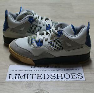 f0fdc8bcdbe1 NIKE AIR JORDAN IV 4 RETRO PS MILITARY BLUE OFF WHITE 308499-141 US ...