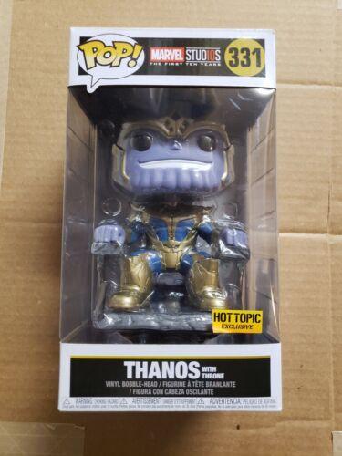 Funko Pop Thanos with Throne Avengers Marvel studios hot topic Exclusive