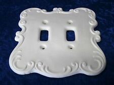 Ready to Paint Ceramic Bisque Switch Plate Cover, unpainted; U-paint