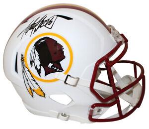 Adrian-Peterson-Autographed-Washington-Redskins-Flat-White-Helmet-BAS-27753