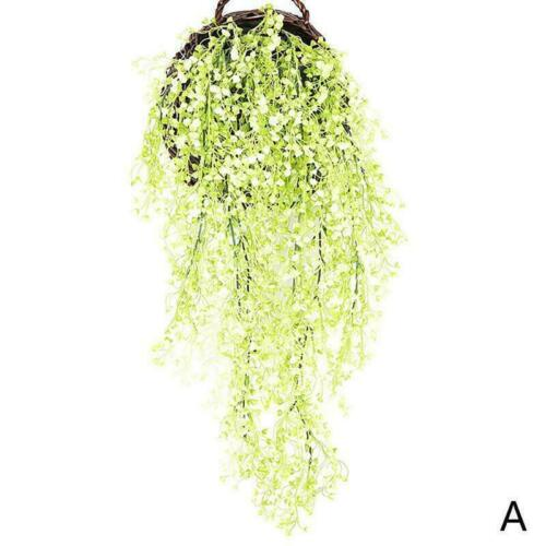 Artificial Fake Plastic Flower Vine Hanging Garland Plant Home Garden Weddi F6N2