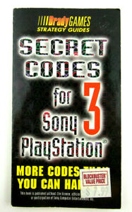 Vintage-1998-Brady-Games-Secret-Codes-3-For-Sony-Playstation-Strategy-Guide