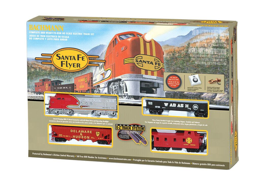 Bachmann 647 Ready to Run Train Set Santa Fe Flyer (HO Scale)
