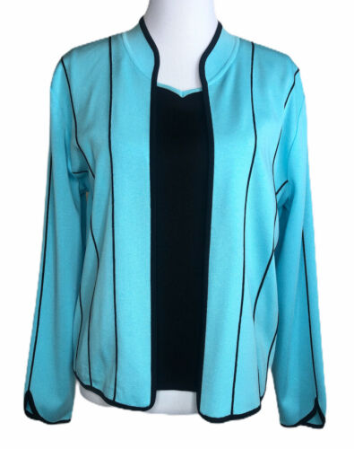 Ming Wang Womens Sweater Twinset Open Cardigan Sle