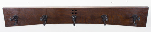 Mission 30 Inch 5 Cast Iron Hook Coat Rack Arts and Crafts