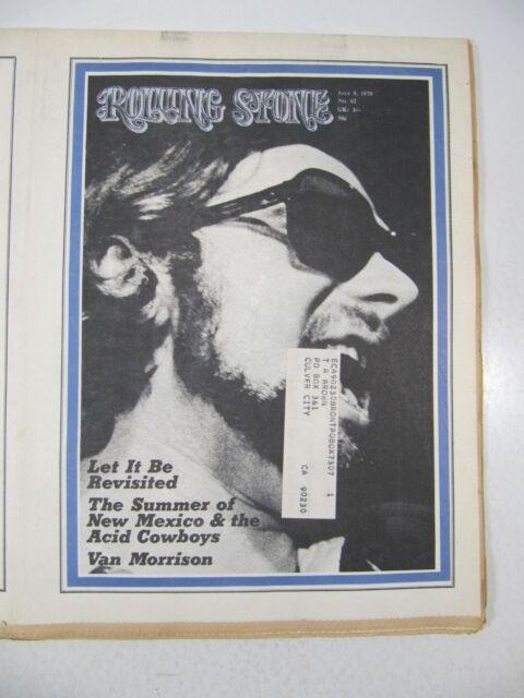 Rolling Stone Magazine #62 July 9, 1970 Van Morrison;Beatles Let It Be