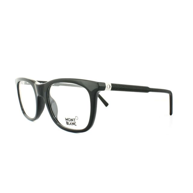 0070616167b1 Montblanc Rectangular Eyeglasses Mb610 005 Size 53mm Black 610 for ...