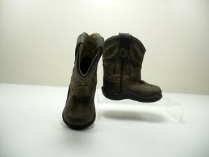 14069a48f0b Details about Old West Toddler Boys' Size 4 w Crazy Horse Cowboy Boots -  TB2251I Brown Leather