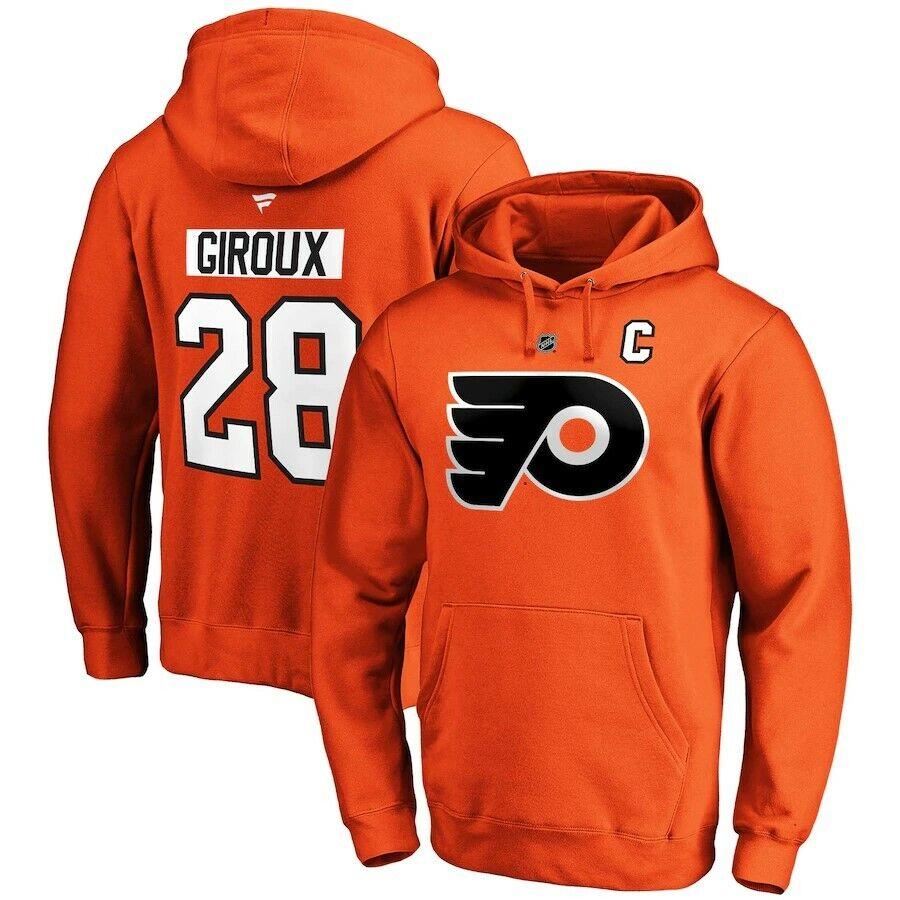 Philadelphia Flyers Men's Hoodie NHL Name & Number Claude Giroux 28 Hoodie - New