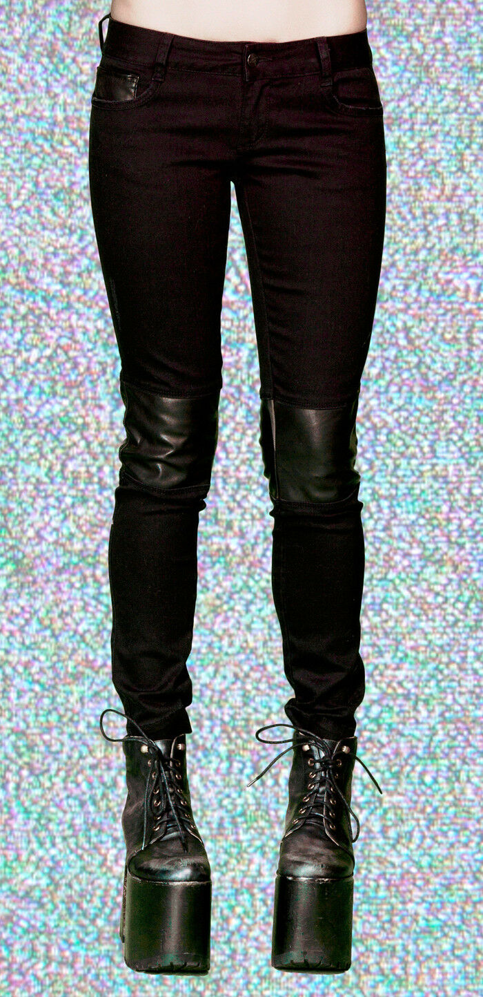 Lip Service Goth Steampunk Anime Cosplay Military Biker Faux Leather Knee Pants