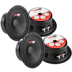 "DS18 PRO-GM6 6.5"" Midrange Loudspeakers 8 Ohm Car Audio Speaker Mid Range 4 Pack"
