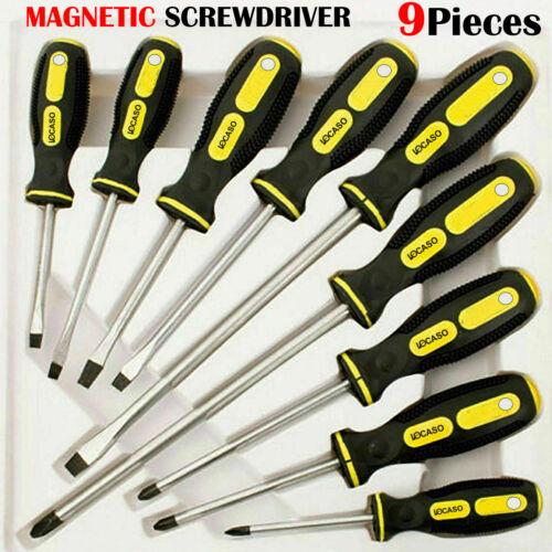 9PC Isolé Précision Magnétique Tournevis Soft Grip Poignées Tool Set UK