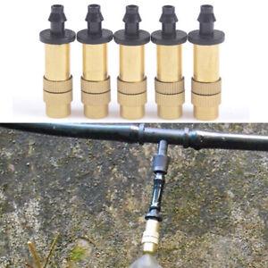 5x-Einstellbare-Nebelduese-Gartenarbeit-Wasserkuehlung-Messing-Spray-Sprinkler-EV
