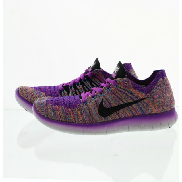 shoes for cheap reputable site sells Wmns Nike RN Flyknit Run Purple Womens Running Shoes Sneakers ...