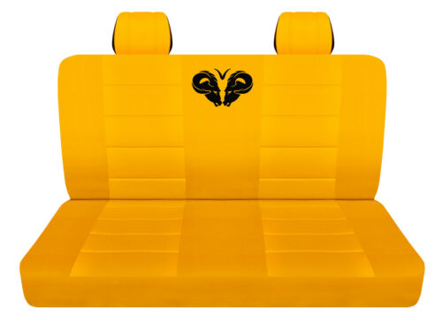 Truck Seat Covers 2019 Dodge Ram Rear Seat Only Yellow Custom Fit
