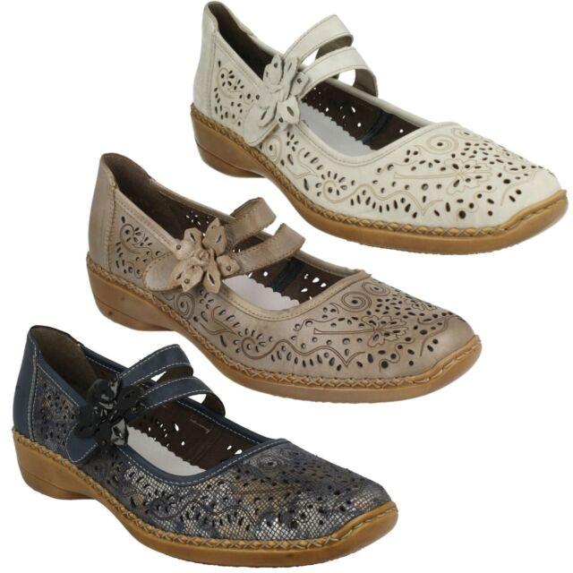Rieker Shoes 41372-60 White/Beige