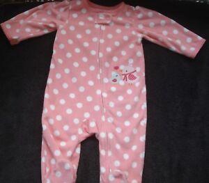 1467307d2 Carter s Child of Mine Infant Girl Fleece Sleeper Size 3-6 Months ...