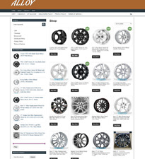 Alloy Wheels Website Fully Stocked One Years Hosting Easy Home Business