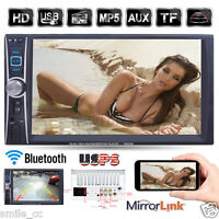 """7"""" Double 2 Din Touchscreen In dash Car Stereo Radio Mp3 CD DVD Player FM Aux"""