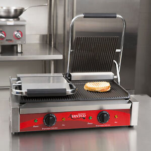Double Grooved Electric Commercial Restaurant Panini