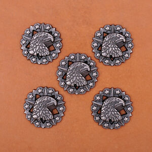 10pcs-24mm-STAR-COOL-EAGLE-ANTIQUE-SLIVER-LEATHERCRAFT-RIVETBACK-CONCHOS-STUD