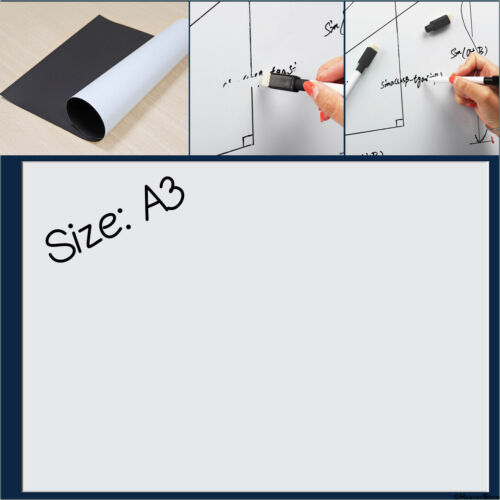 A3 A4 A5 Magnetic Whiteboard Weekly Meal Planner Memo Dry Wipe Fridge Notice