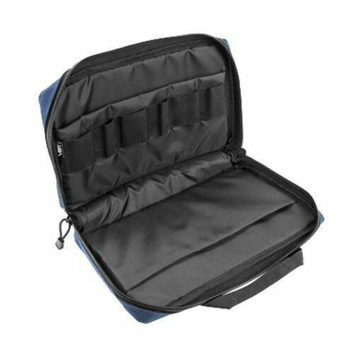 NcStar CPBL2903 BLUE Police Discreet Padded Handgun Pistol Mag Storage Case