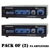 Pack Of (2) Pyramid Pa105 80w Microphone Ac & Dc 12 Volt Pa Amplifier, 70v O/p
