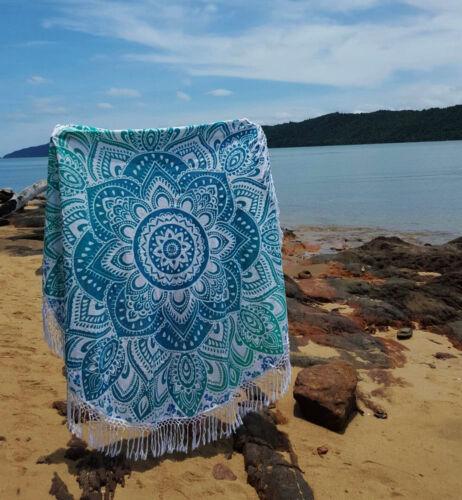 """50/"""" Hippie Bohemian Mandala Round Tapestry Roundie Beach Throw Indian Yoga Mat"""