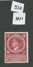 Mint postage stamp / Adolph Hitler 1944 Birthday / Third Reich / 1944 MH stamp