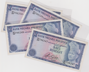 Mazuma *M1031 Malaysia 4th $1 M/39 786247-250 4 Running  AUNC