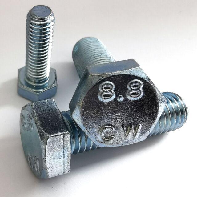 10 Sechskantschrauben DIN 933 Edelstahl A2 M 6x80