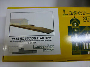 Branchline Laser-Art Structures HO #666 Station Platform