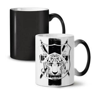 Tiger Calm Face Animal NEW Colour Changing Tea Coffee Mug 11 oz | Wellcoda