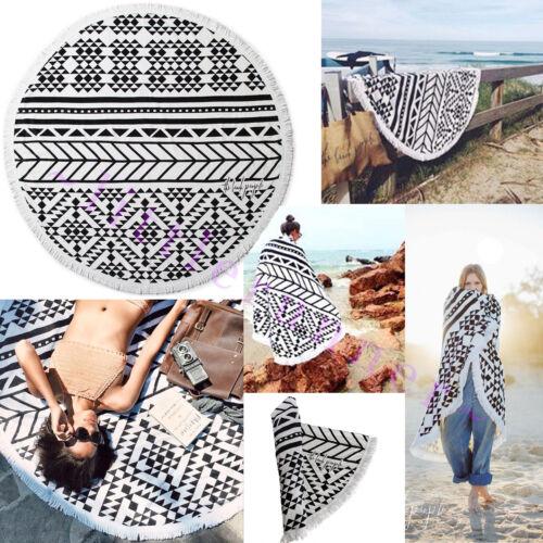 NEW ~ The Beach People Round Beach Towel 100/% Cotton /& Tassel Detail $110