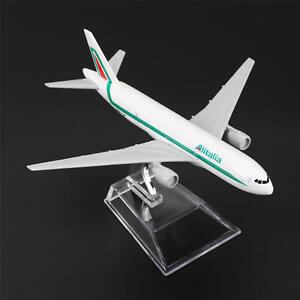 16cm-Boeing-777-Alitalia-Airlines-Aereo-Aeroplano-Modellino-Auto