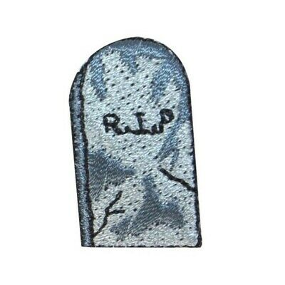 Everyday Is Halloween Embroidered Iron On Patch Tombstone Skull Gothic