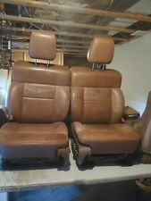 Ford King Ranch 2004 2008 F150 Cc Seats Brown Leather Console Set W Rear Bench