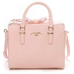Image Is Loading Samantha Thavasa Vega Box Bow Bag Medium Handbag