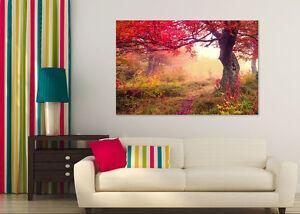 3D-Red-Leaves-Tree-098-Wall-Stickers-Vinyl-Murals-Wall-Print-Decal-Art-AJ-STORE