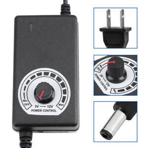 AC to DC Adapter 3-12v 2a Adjustable Power Supply Motor Speed Controller HighQ
