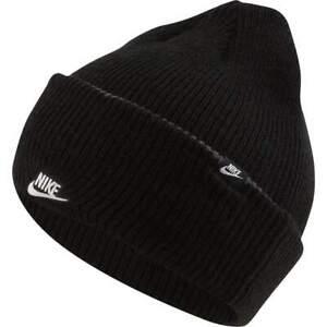 Detalles de Nike Sportswear Cuffed 3 In Gorro (Beanie) Negro Hombre