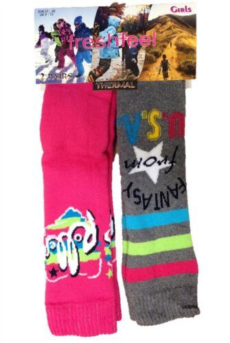 2 Pairs Boys Girls Children Kids Thermal Ski Snowboarding Walking Warm Hot Socks