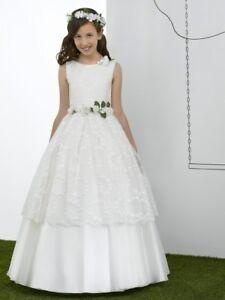 Détails Sur Precioso Vestido De Primera Comunión Para Niñas De 8 A 14 Años