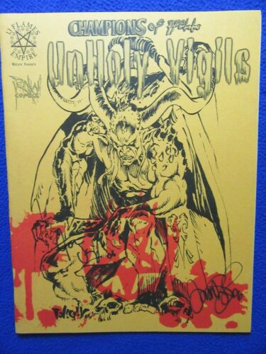 CHAMPIONS OF HELL UNHOLY VIGILS VARIANT 2X SIGNED! TIM & JOE VIGIL