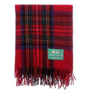 BORDER-TWEEDS-Knee-Travel-Rug-Blanket-Wool-Tartan-Royal-Stewart