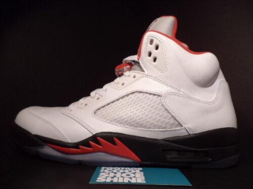 Wolf Negro Rojo 12 Air V Gris 100 5 Retro 136027 Sz Nike Fire Plata White Jordan 01zwqq8fC